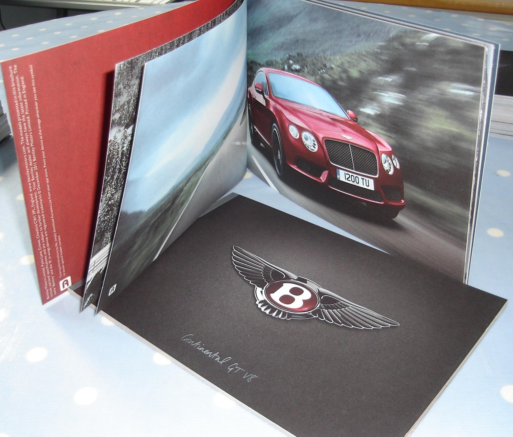 BENTLEY GTV8 And GTCV8 Catalogue Brochure A5 Sized